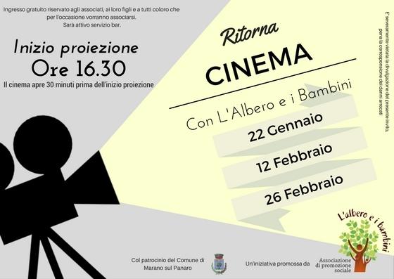 Al cinema con l'Albero e i Bambini ed. 2017